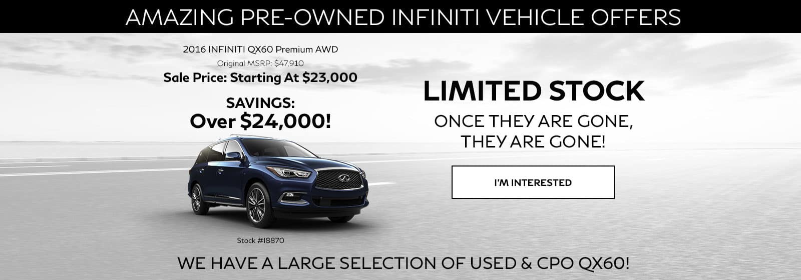Used QX60 Special