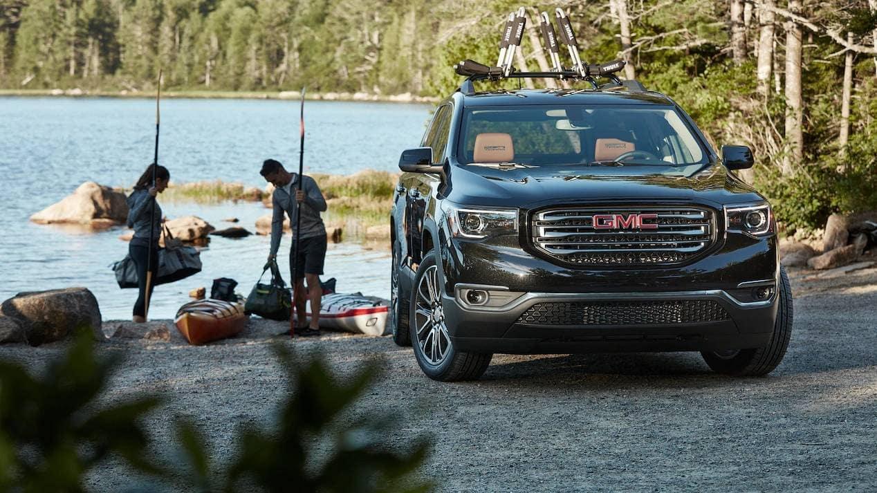 2019 GMC Acadia on the lake