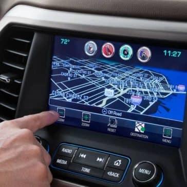 2019 GMC Acadia technology screen