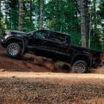2019 GMC Sierra 1500 off road in the forest