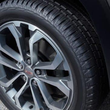 2019 GMC Terrain tire and hubcap detail