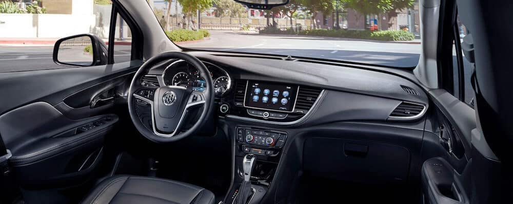 2019 Buick Encore interior cockpit with sunny view