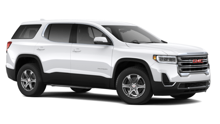 Summit White 2020 GMC Acadia SL
