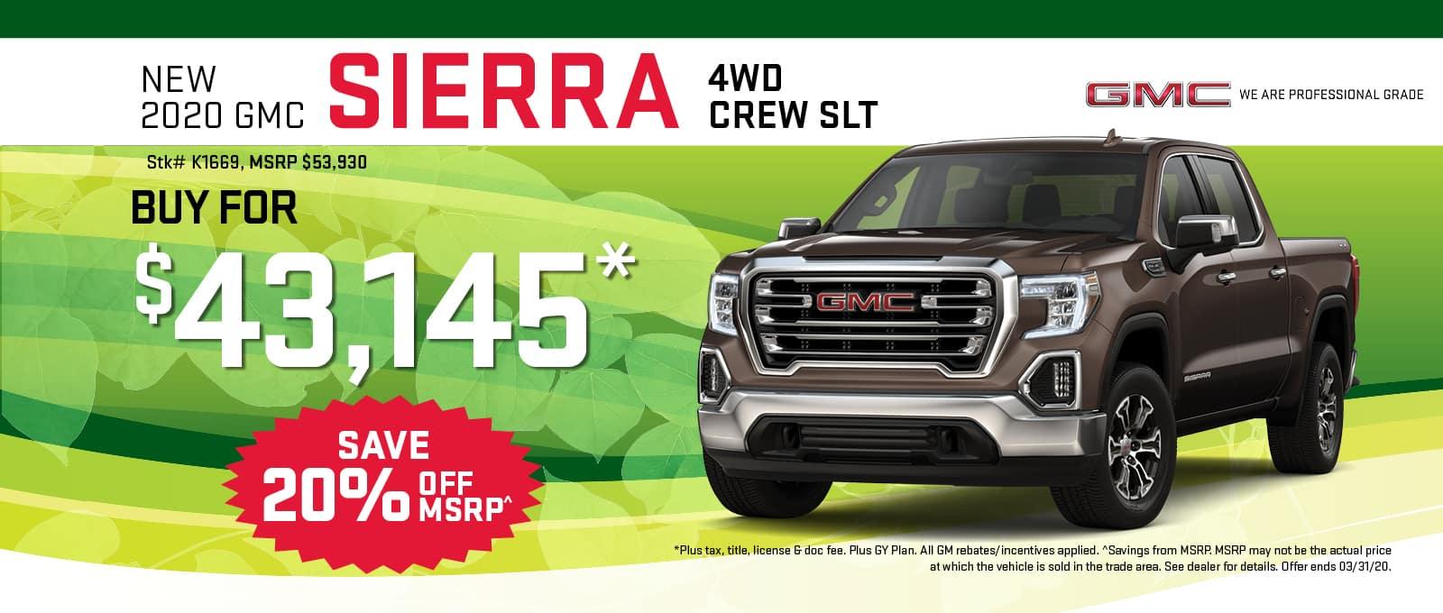 2020 GMC Sierra