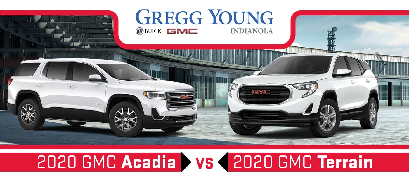 2020 Gmc Acadia Vs 2020 Gmc Terrain Size Mpg Specs And Features