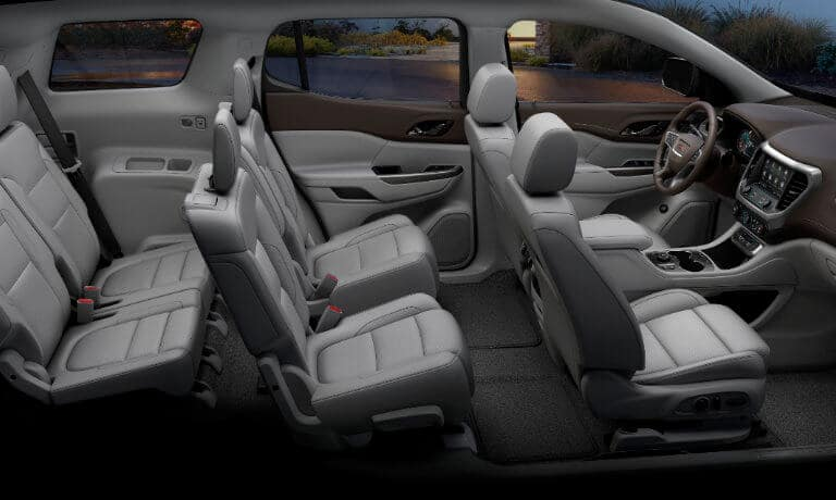 2020 GMC Acadia interior side view cut away