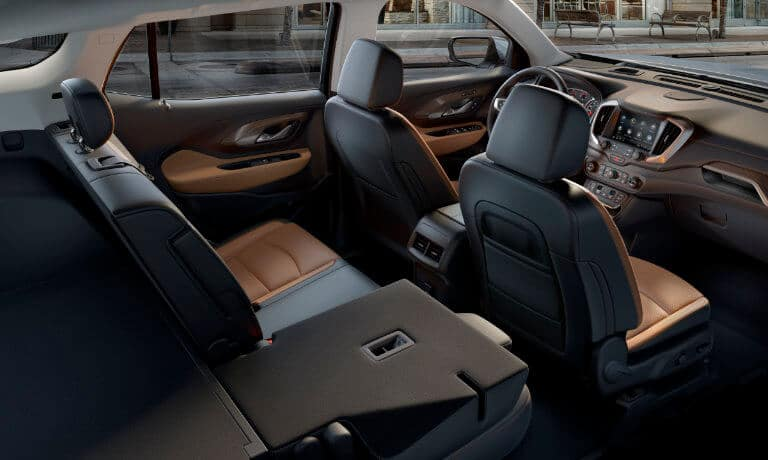 2020 GMC Terrain interior rear seats with seat folded down