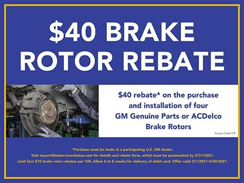 $40 Brake Rotor Rebate