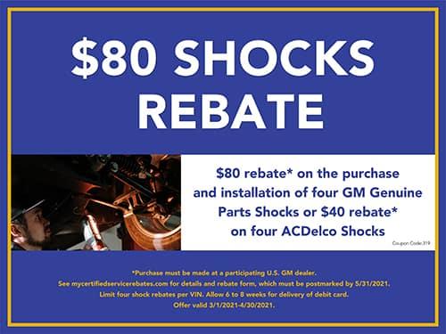 $80 Shocks Rebate