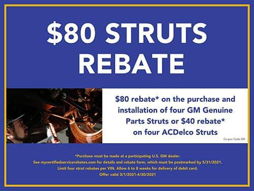 $80 Struts Rebate