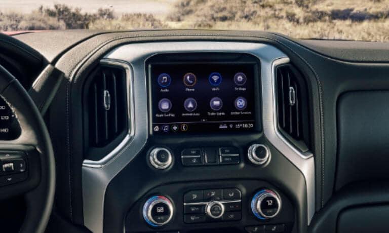 2021 Sierra 1500 interior infotainment system