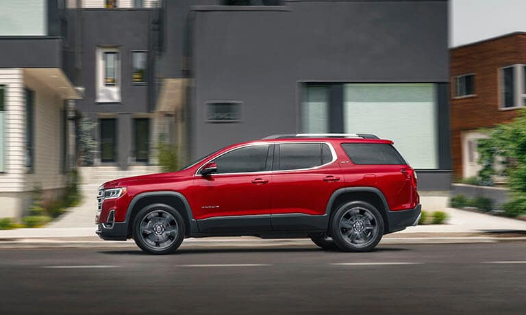 New GMC Acadia driving side exterior view