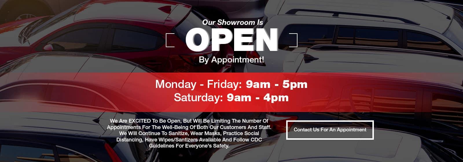 Sales Open By Appt