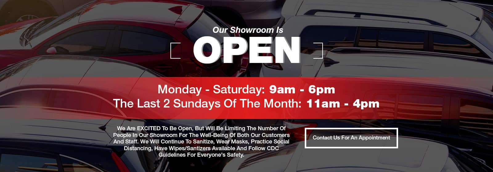 Our Showroom Is Open