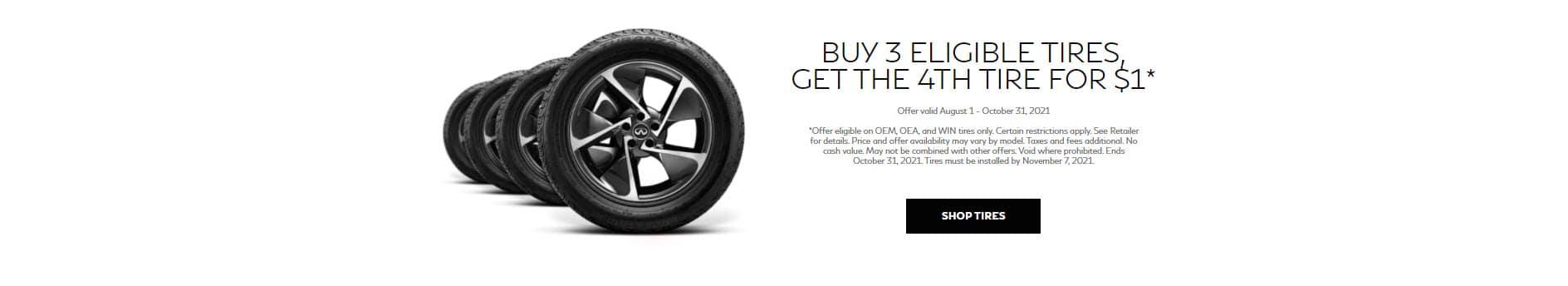 Buy 3, Get 1 Tire