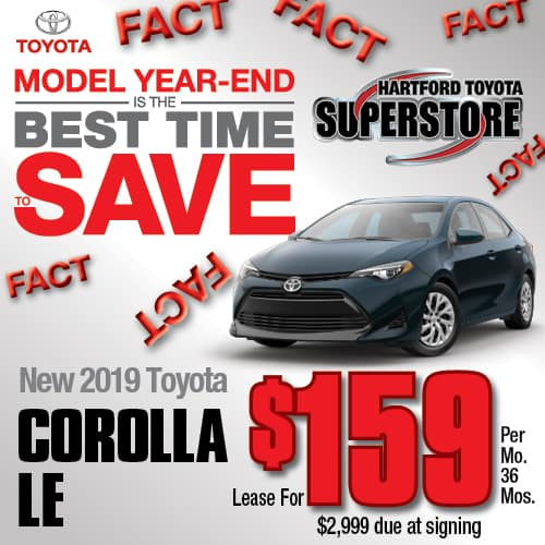 Lease A Toyota Corolla: Hartford Toyota Superstore