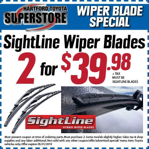 Wiper blade coupon