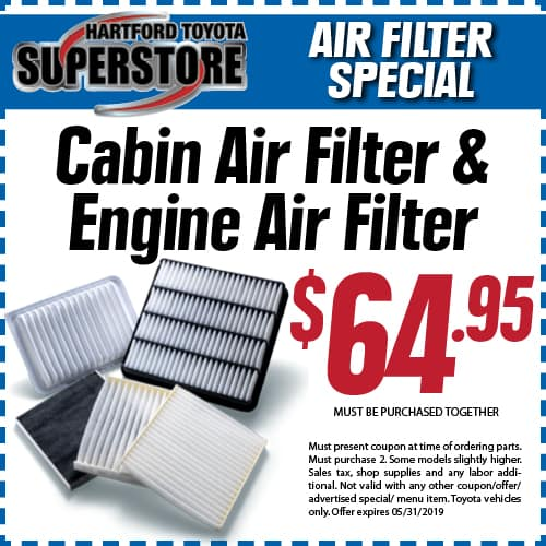 Cabin and air filter coupon