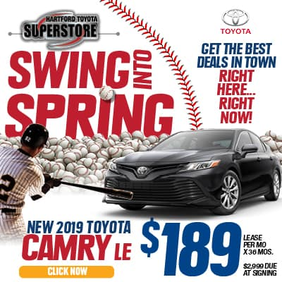 Swing Into Spring 2019 Toyota Camry LE