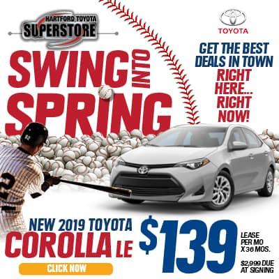 Swing Into Spring 2019 Toyota Corolla LE