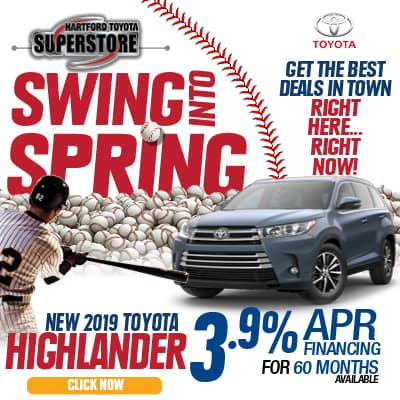 Swing Into Spring 2019 Toyota Highlander