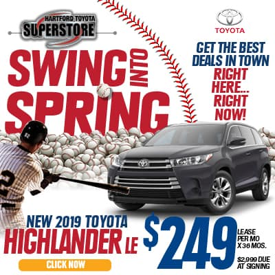 Swing Into Spring 2019 Toyota Highlander LE