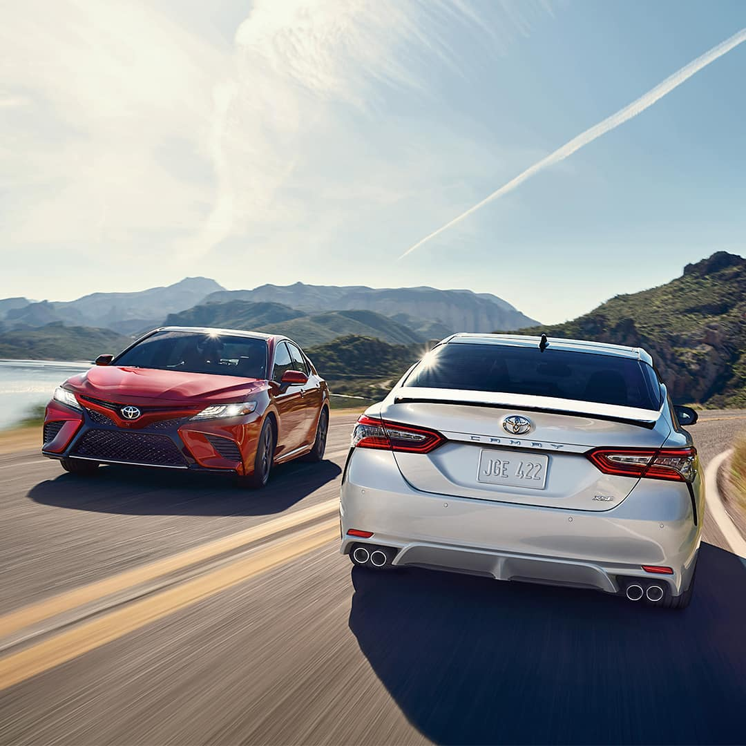 New Car Alternative at Hartford Toyota | Two Toyota Camrys Driving Past Each Other
