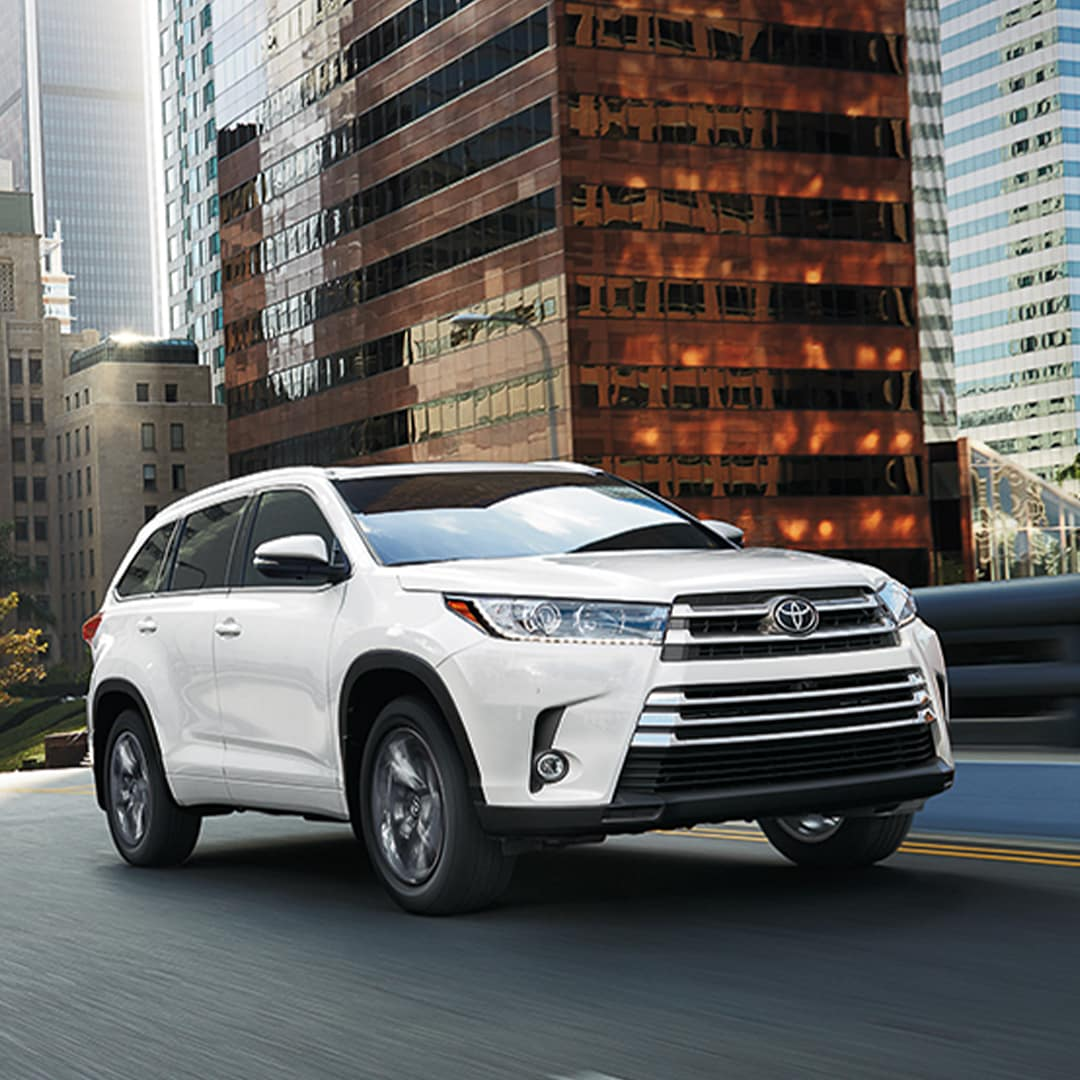 New Car Alternative at Hartford Toyota | Toyota Highlander Driving on a City Road