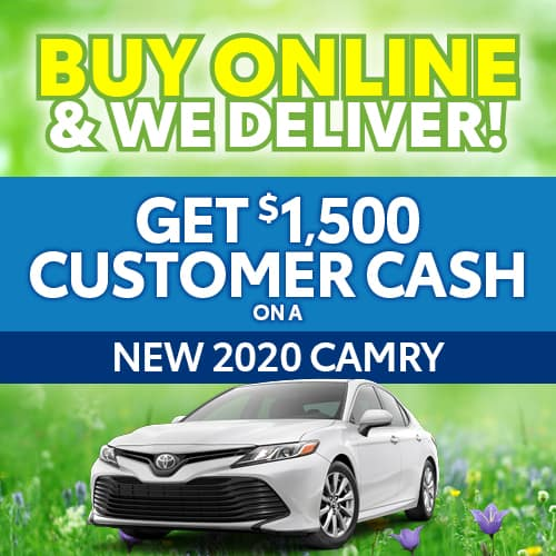 Get $1500 Customer Cash on a New 2020 CAMRY