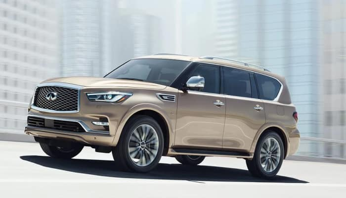The 2019 INFINITI QX80 available at Herrin-Gear INFINITI