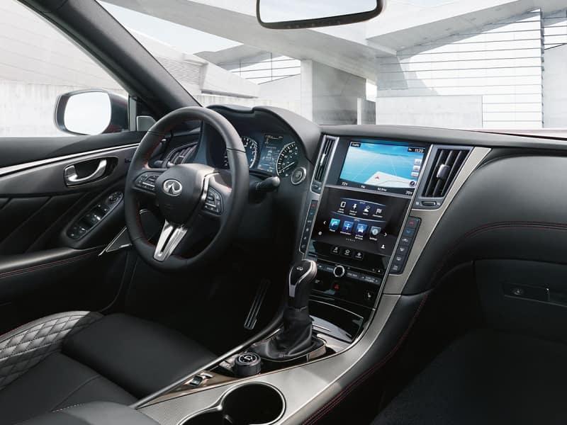The spacious interior of the 2019 INFINITI Q50