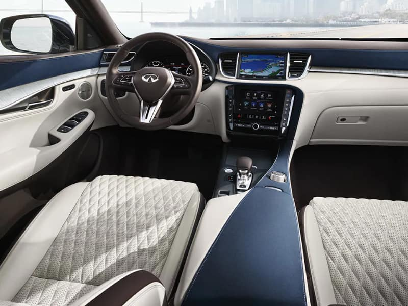 The spacious interior of the 2019 INFINITI QX50
