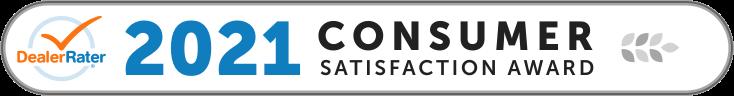 2021 Consumer Satisfaction Award - DealerRater