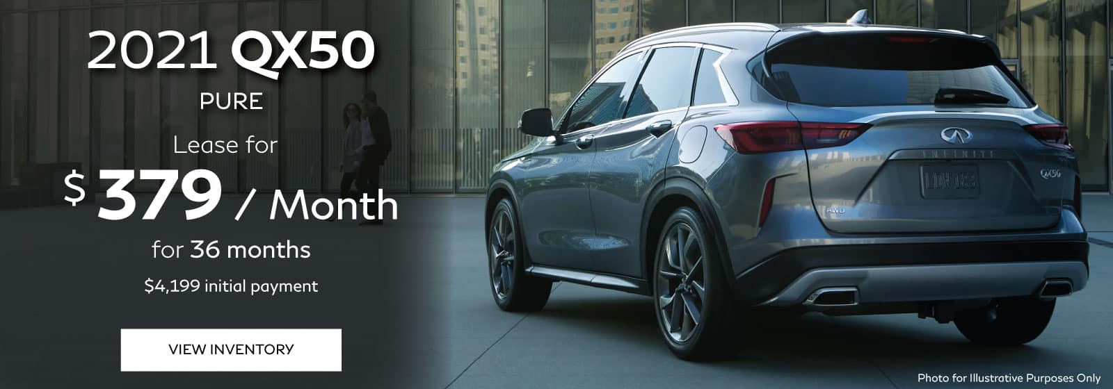 Lease special for the 2021 INFINITI QX50