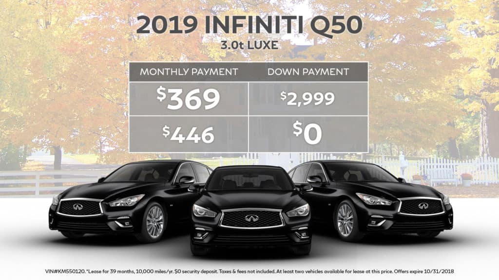 2019 INFINITI Q50 3.0t LUXE AWD With Navigation