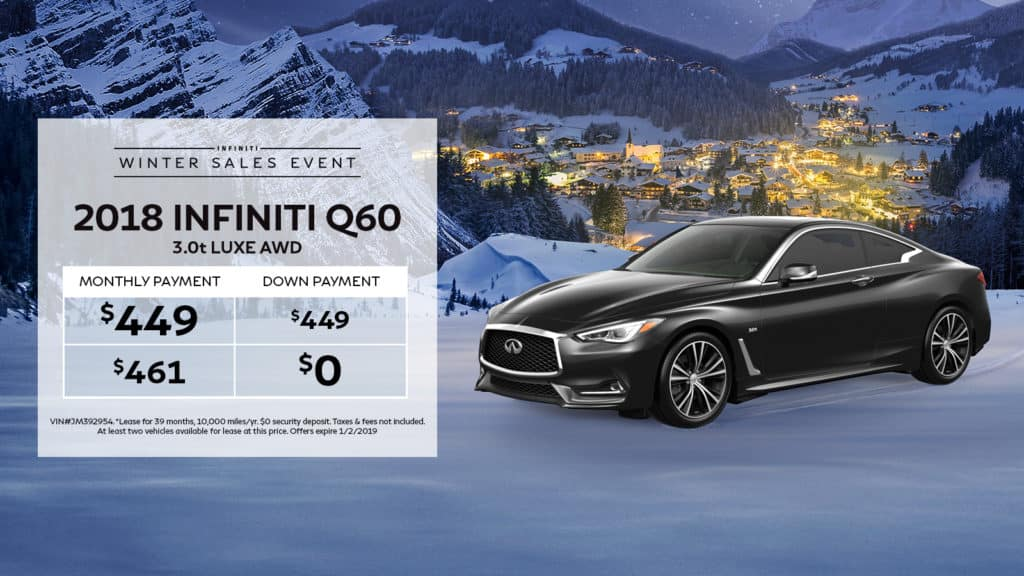 2018 INFINITI Q60 3.0t LUXE AWD With Navigation