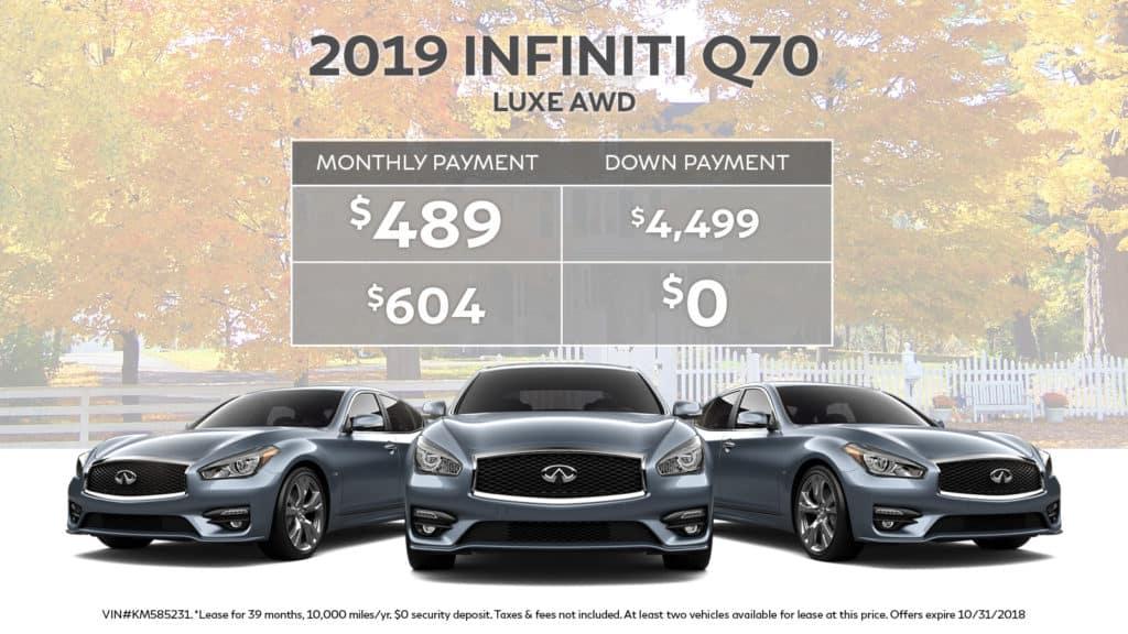 2019 INFINITI Q70 3.7 LUXE AWD