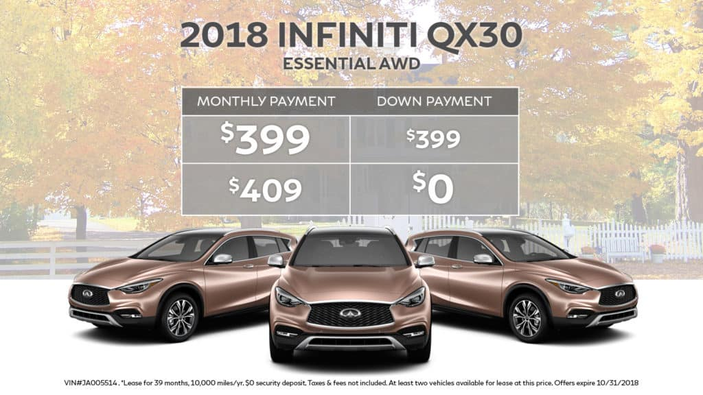 2018 INFINITI QX30 ESSENTIAL AWD With Navigation