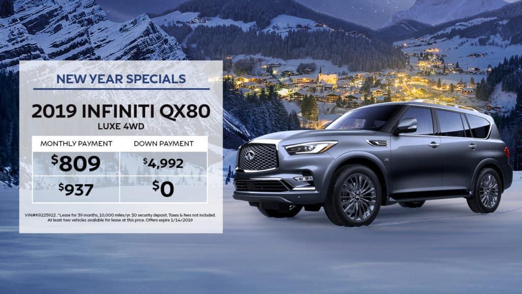 2019 INFINITI QX80 4WD