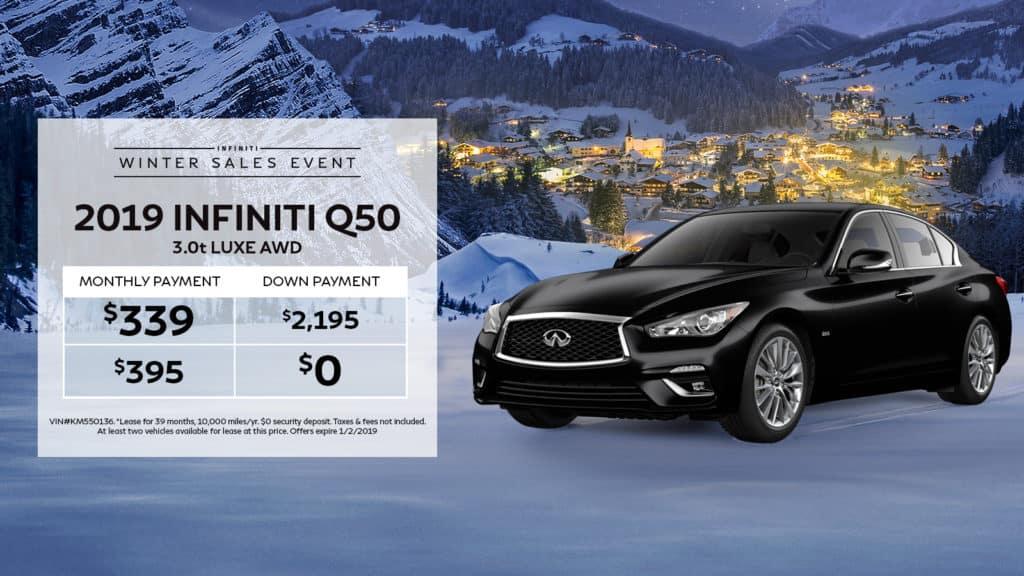 New 2019 INFINITI Q50 3.0t LUXE AWD AWD