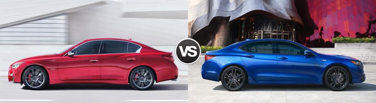 2019 INFINITI Q50 vs 2019 Acura TLX