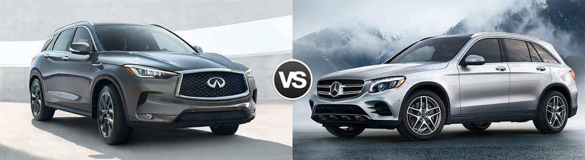 2019 INFINITI QX50 vs 2019 Mercedes-Benz GLC
