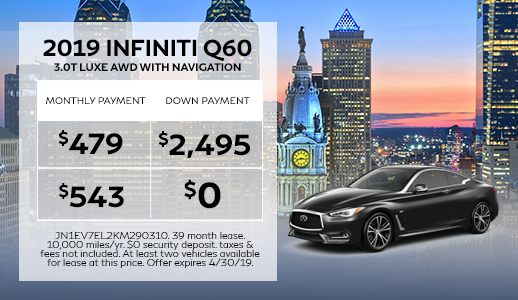 New 2019 INFINITI Q60 3.0t LUXE AWD With Navigation