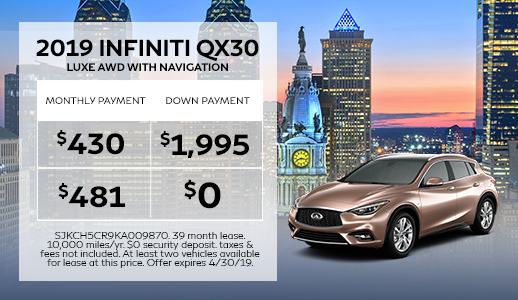 New 2019 INFINITI QX30 LUXE AWD With Navigation