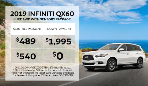 New 2019 INFINITI QX60 LUXE AWD w/ Sensory Package