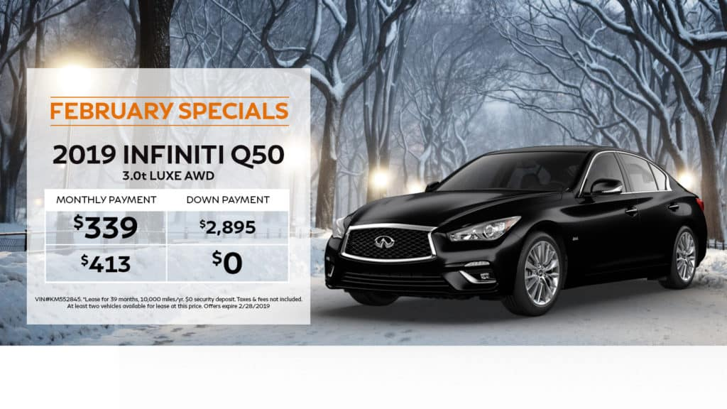 New 2019 INFINITI Q50 3.0t LUXE AWD With Navigation