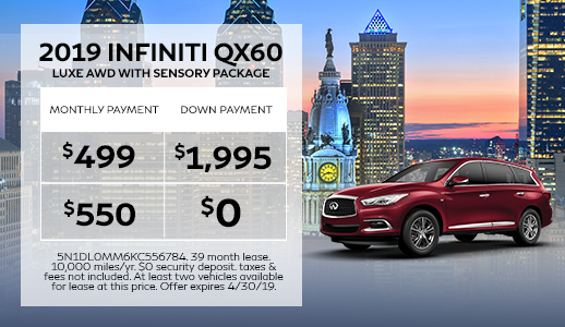 New 2019 INFINITI QX60 LUXE AWD with Sensory Package
