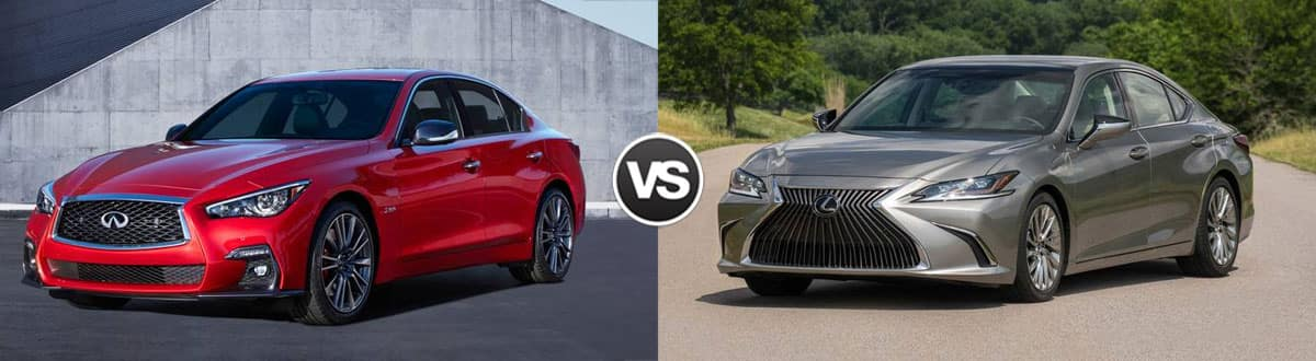 2019 INFINITI Q50 vs 2019 Lexus ES 350