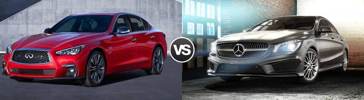 2019 INFINITI Q50 vs 2019 Mercedes-Benz CLA