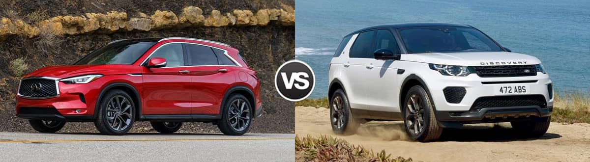 2019 INFINITI QX50 vs 2019 Land Rover Discovery Sport